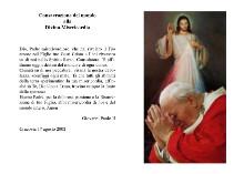 santino consacrazione del mondo alla divina misericordia